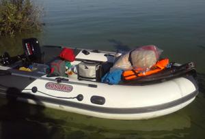 Загрузка надувной лодки 365